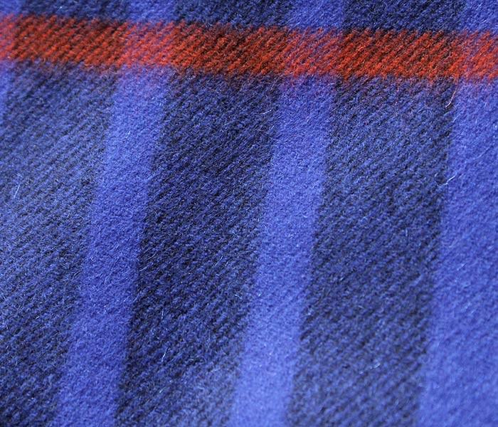 [送料無料]ジョンストンズ/JOHNSTONS 英国製 ''Blue Mackay Type(AU1733)'' カシミアストール (JOHNSTONS-STOLE-AU1733(WD000056))