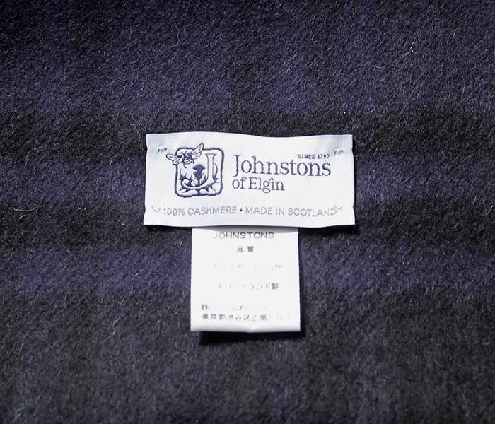 [送料無料]ジョンストンズ/JOHNSTONS 英国製 ''Gordon Type(AU1735)'' カシミアストール (JOHNSTONS-STOLE-AU1735(WD000056))