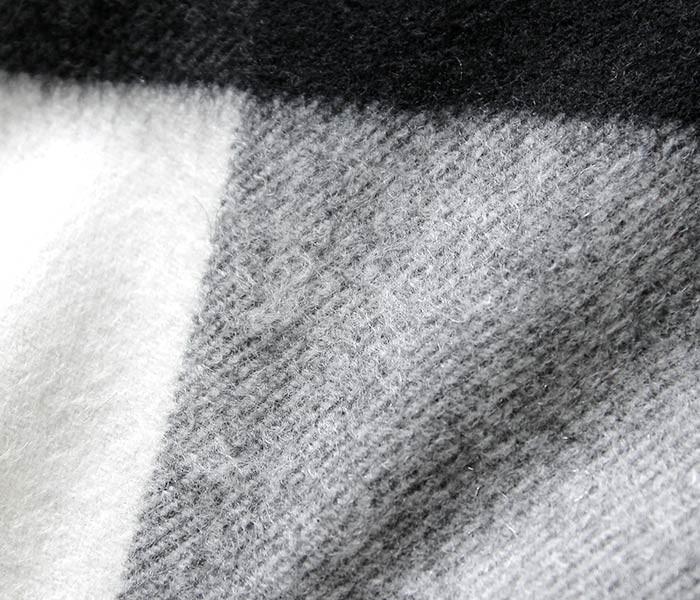 [送料無料]ジョンストンズ/JOHNSTONS 英国製 ''Block Check-Blank(AU1798)'' カシミアストール (JOHNSTONS-STOLE-AU1798(WD000056))