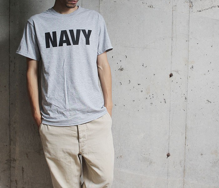 デッドストック/DEADSTOCK 1990s NAVY プリント Tシャツ フルーツオブザルームボディ (US-NAVY-PT-TEE)