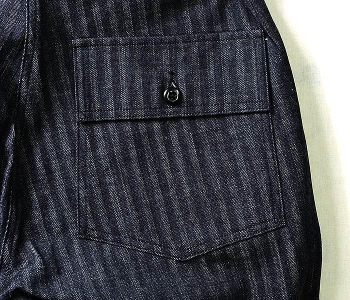 [送料無料]ウエアハウス/WAREHOUSE 日本製 ヘリンボーンデニム ベイカーパンツ ファティーグパンツ HERRINGBONE MILITARY PANTS (1086-INDIGO-HERRINGBONE-NW)