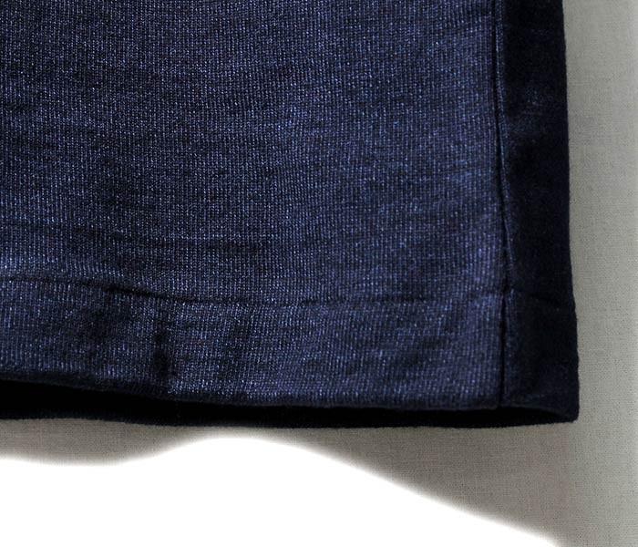 ウエアハウス/WAREHOUSE 日本製 インディゴ ヘンリーネックTシャツ (4055-INDIGO-HENLEY)