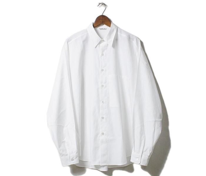 [送料無料]オーラリー/AURALEE 日本製 ウォッシュドフィンクスツイル ビッグシャツ WASHED FINX TWILL BIG SHIRTS (AURALEE-WFINX-TWILL-BIGSH(A8SS02TN))