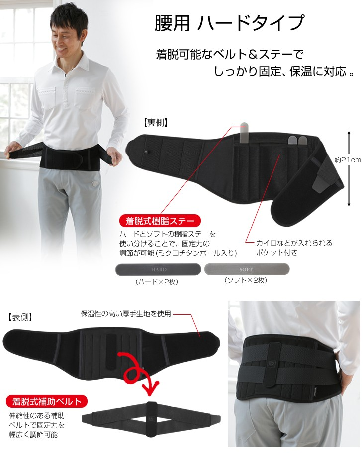 ファイテンサポーター 腰用 ハードタイプ シングル(phiten)
