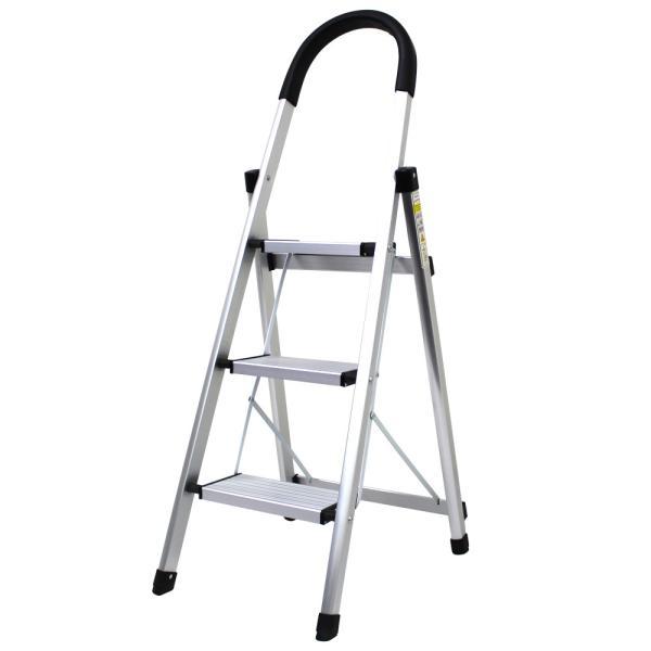 脚立 はしご 3段 アルミ 踏み台 折りたたみ おしゃれ 軽量 折りたたみ脚立 ステップラダー 雪下ろし 踏み台|pickupplazashop|08