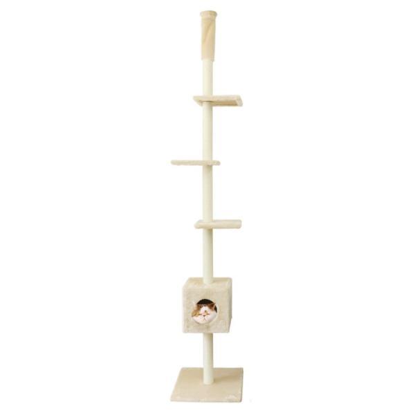 キャットタワー 突っ張り型 大型 麻 260cm 猫タワー おしゃれ 爪とぎ 猫グッズ スリム 遊び場 突っ張り型キャットタワー|pickupplazashop|07