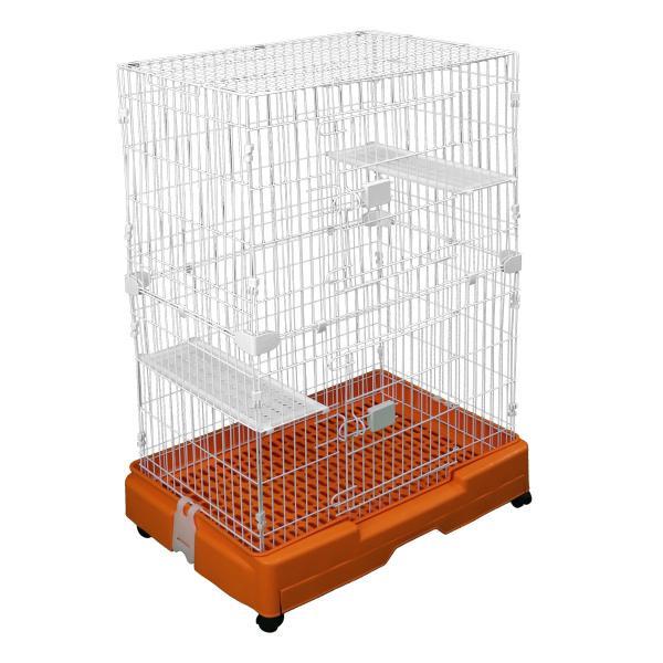 キャットケージ 猫用ケージ ゲージ 2段 スリム キャスター ペットケージ pickupplazashop 14