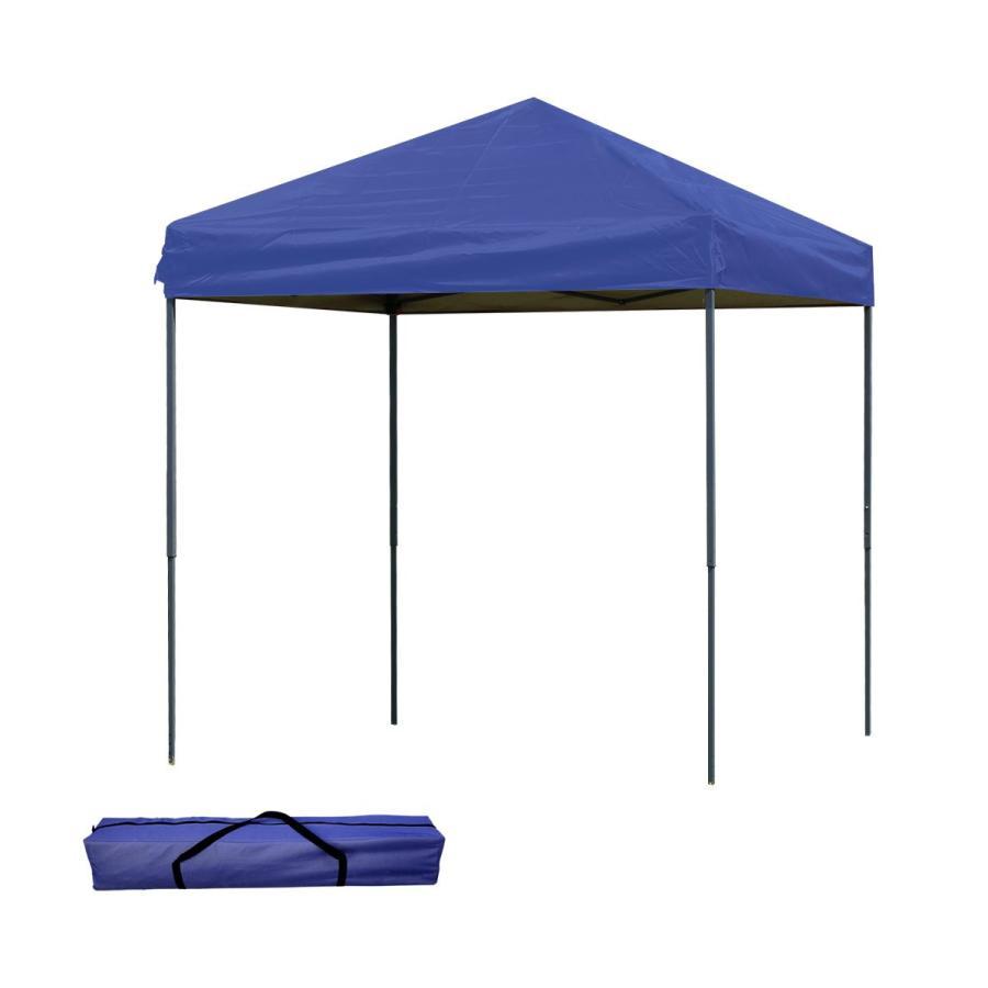 タープテント 2m×2m ワンタッチ スチール 日よけ ベンチレーションなし サイドシート有無選択 キャンプ BBQ pickupplazashop 12