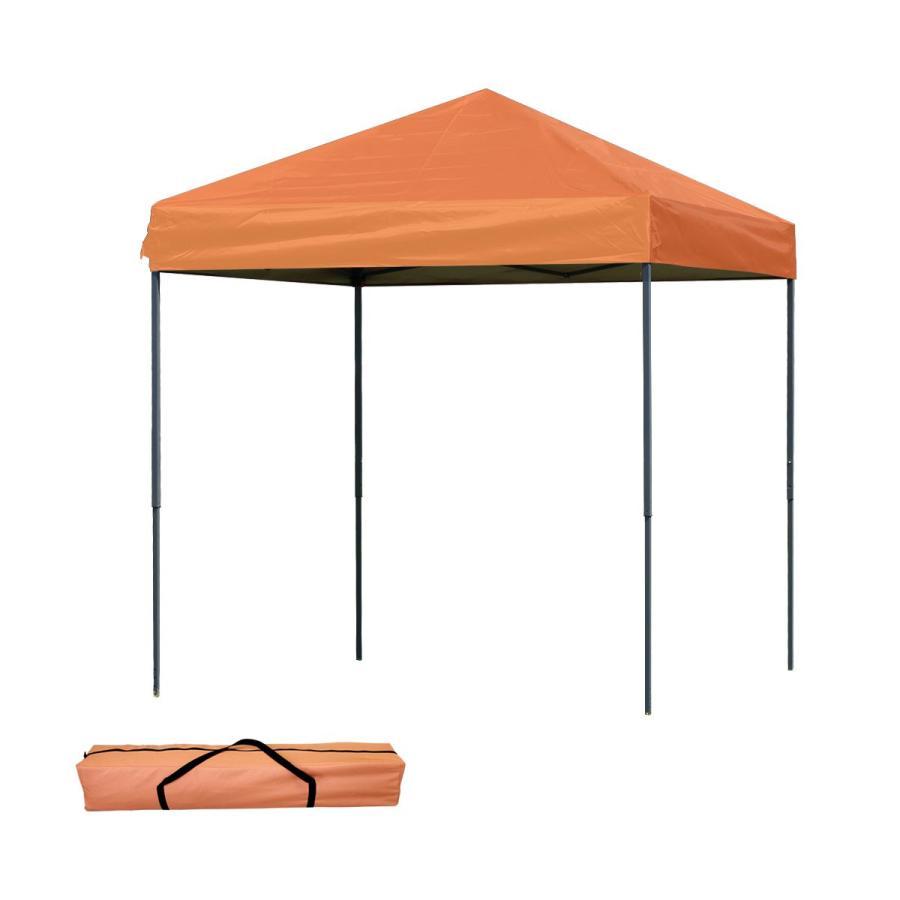 タープテント 2m×2m ワンタッチ スチール 日よけ ベンチレーションなし サイドシート有無選択 キャンプ BBQ pickupplazashop 10
