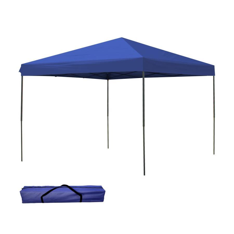 タープテント 3m×3m ワンタッチ スチール 日よけ ベンチレーションなし BBQ アウトドア キャンプ サイドシート有無選択|pickupplazashop|10