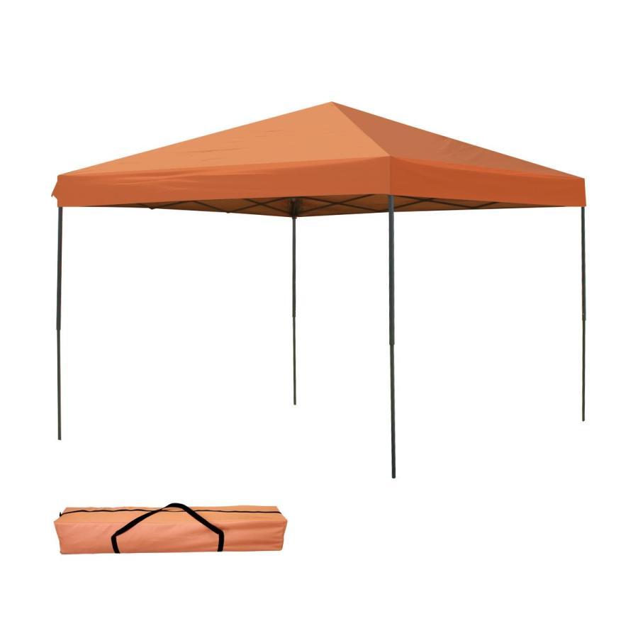 タープテント 3m×3m ワンタッチ スチール 日よけ ベンチレーションなし BBQ アウトドア キャンプ サイドシート有無選択|pickupplazashop|12
