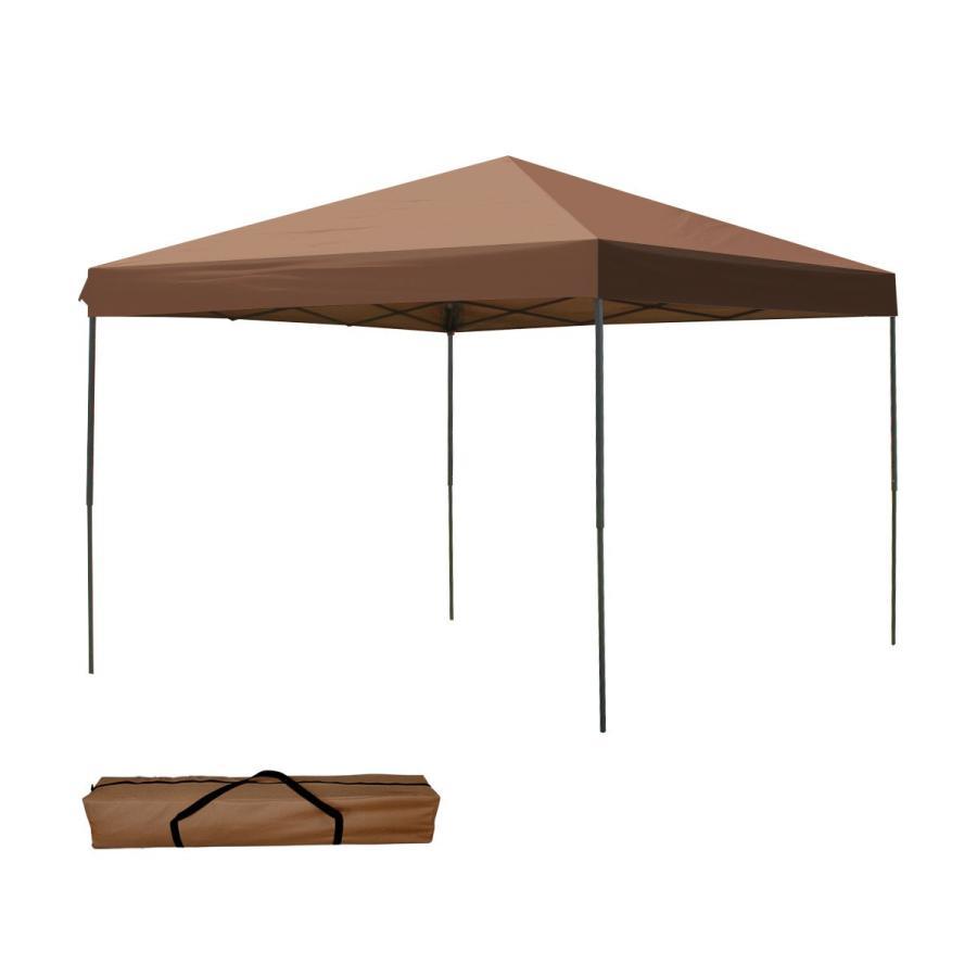 タープテント 3m×3m ワンタッチ スチール 日よけ ベンチレーションなし BBQ アウトドア キャンプ サイドシート有無選択|pickupplazashop|11