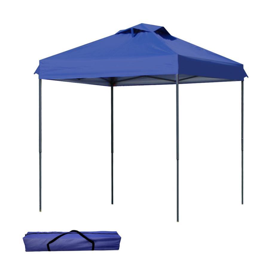 タープテント 2m×2m ワンタッチ サンシェード スチール 日よけ ベンチレーション有 サイドシート有無し選択 キャンプ BBQ|pickupplazashop|10
