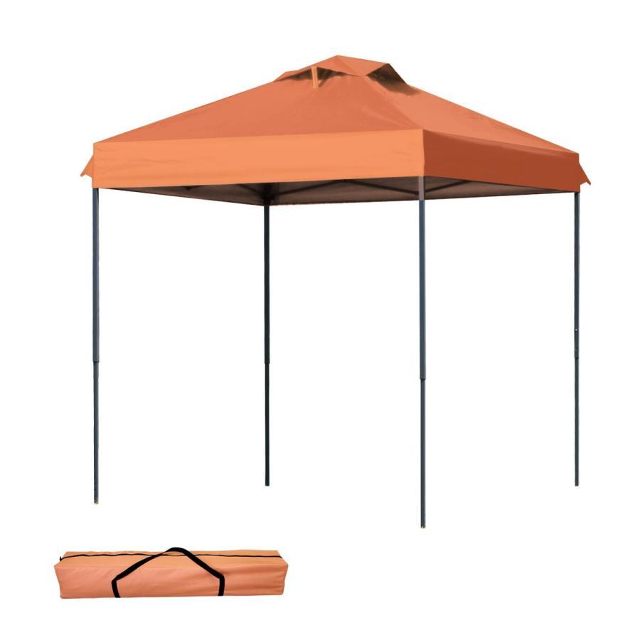 タープテント 2m×2m ワンタッチ サンシェード スチール 日よけ ベンチレーション有 サイドシート有無し選択 キャンプ BBQ|pickupplazashop|11