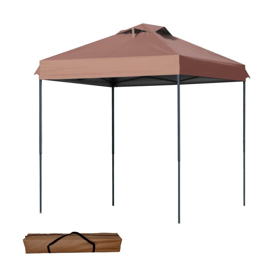 タープテント 2m×2m ワンタッチ サンシェード スチール 日よけ ベンチレーション有 サイドシート有無し選択 キャンプ BBQ|pickupplazashop|12