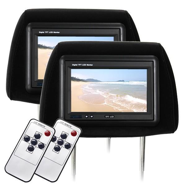 ヘッドレスト モニター 7インチ 地デジ ワンセグ フルセグ 左右セット 800×480pix  12V 高画質 LED 液晶|pickupplazashop|11