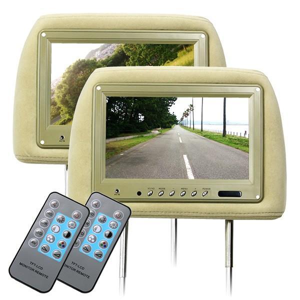 ヘッドレスト モニター 9インチ 地デジ ワンセグ フルセグ 左右セット 800×480pix  12V 高画質|pickupplazashop|14
