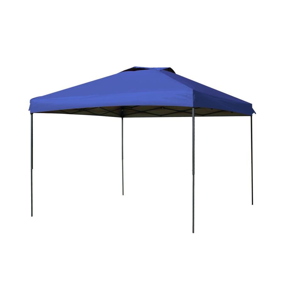 タープテント 3m×3m ワンタッチ サンシェード スチール 日よけ ベンチレーション サイドシート有無選択 キャンプ BBQ pickupplazashop 12