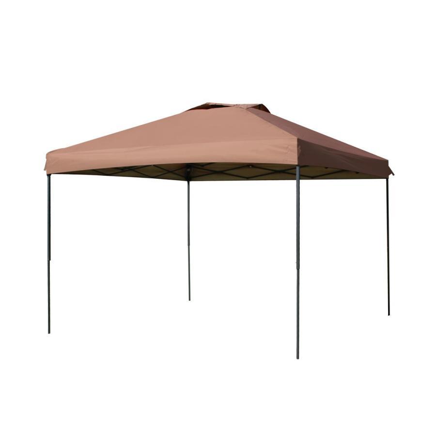 タープテント 3m×3m ワンタッチ サンシェード スチール 日よけ ベンチレーション サイドシート有無選択 キャンプ BBQ pickupplazashop 10