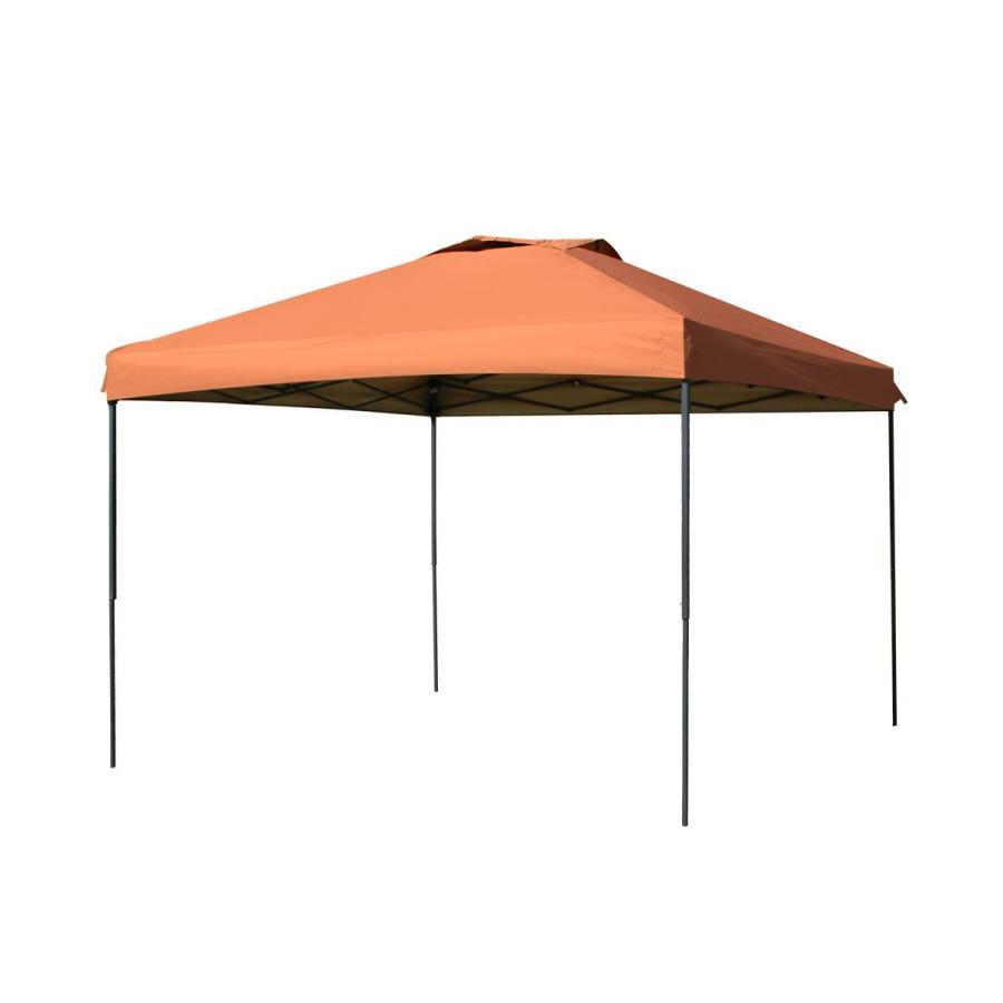 タープテント 3m×3m ワンタッチ サンシェード スチール 日よけ ベンチレーション サイドシート有無選択 キャンプ BBQ pickupplazashop 11