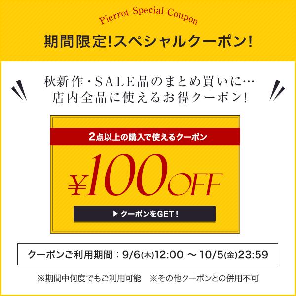 【全商品対象】2点以上のお買い物で100円OFF