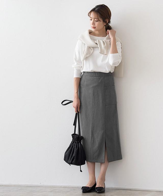 高見えロングタイトスカート