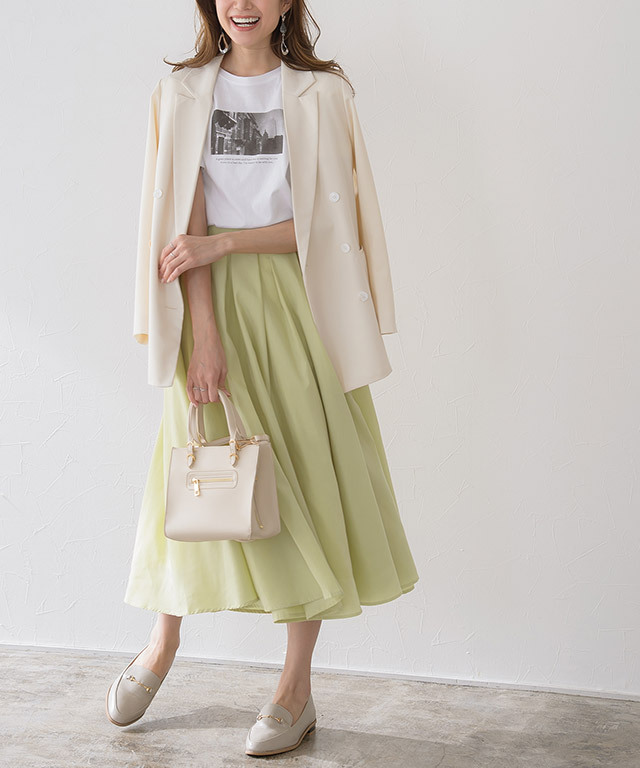 ★★タックロングスカート