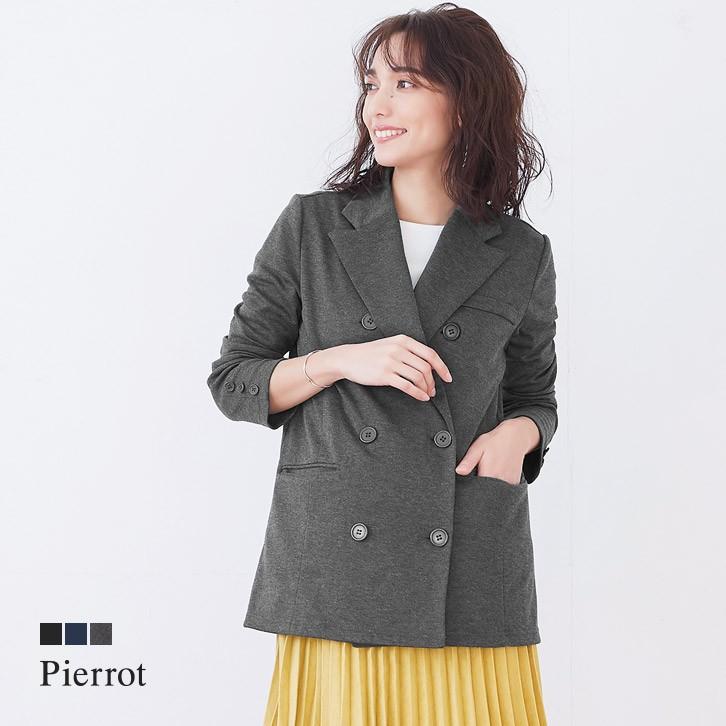 ★★ポンチ素材 ダブルロングジャケット
