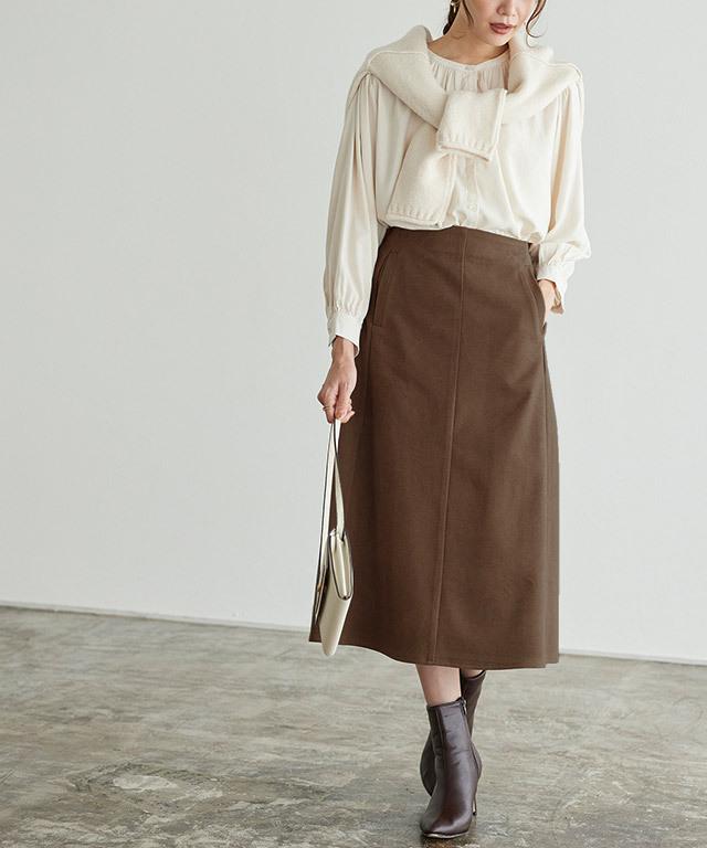 ウールタッチスカート
