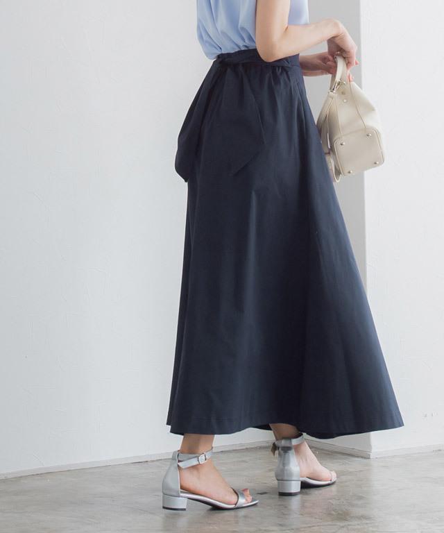 ラップ風チノスカート
