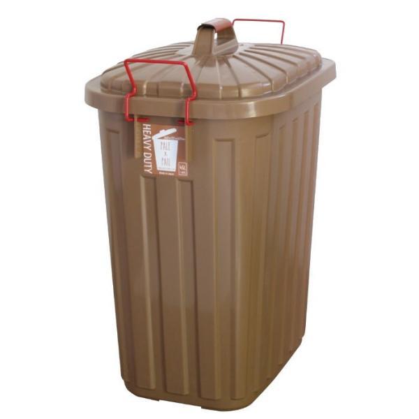 即出荷 ごみ箱 ふた付き おしゃれ 分別用 屋外 ごみばこ ダストボックス 大容量 頑丈 丈夫 60L PALE PAIL PALE×PAILふた付きゴミ箱 IWLY4010BG スパイス SPICE|piglet|08