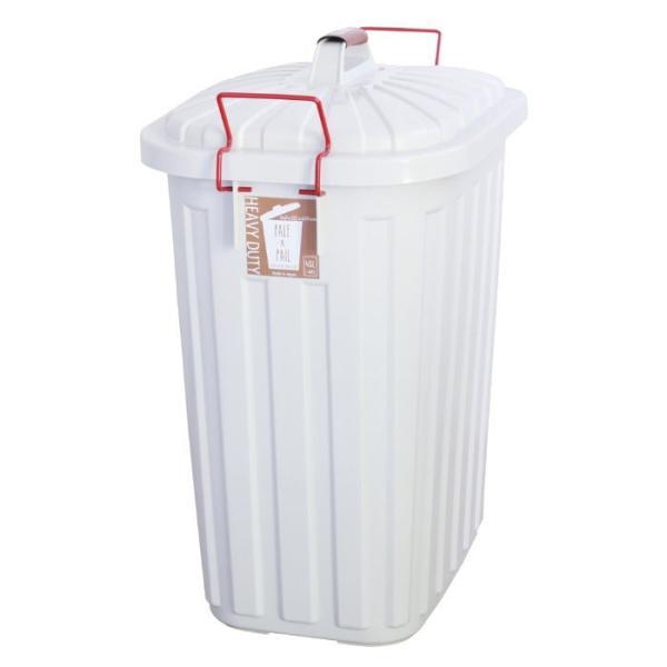 即出荷 ごみ箱 ふた付き おしゃれ 分別用 屋外 ごみばこ ダストボックス 大容量 頑丈 丈夫 60L PALE PAIL PALE×PAILふた付きゴミ箱 IWLY4010BG スパイス SPICE|piglet|09