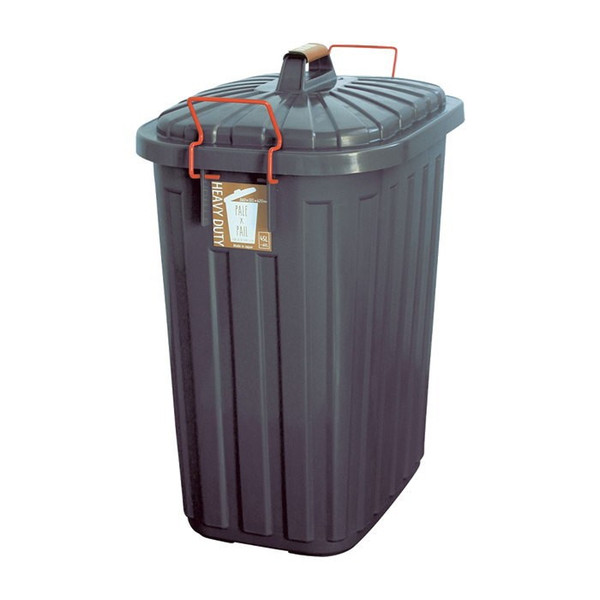 即出荷 ごみ箱 ふた付き おしゃれ 分別用 屋外 ごみばこ ダストボックス 大容量 頑丈 丈夫 60L PALE PAIL PALE×PAILふた付きゴミ箱 IWLY4010BG スパイス SPICE|piglet|11