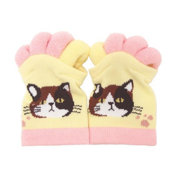 即出荷 足指ソックス 足指 広げる 5本指 靴下 ソックス ネイル ペディキュア リラックス フットケア ストレッチ かわいい ネコ イヌ|piglet|11