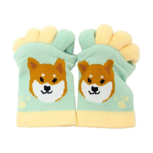 即出荷 足指ソックス 足指 広げる 5本指 靴下 ソックス ネイル ペディキュア リラックス フットケア ストレッチ かわいい ネコ イヌ|piglet|13