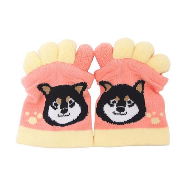即出荷 足指ソックス 足指 広げる 5本指 靴下 ソックス ネイル ペディキュア リラックス フットケア ストレッチ かわいい ネコ イヌ|piglet|14