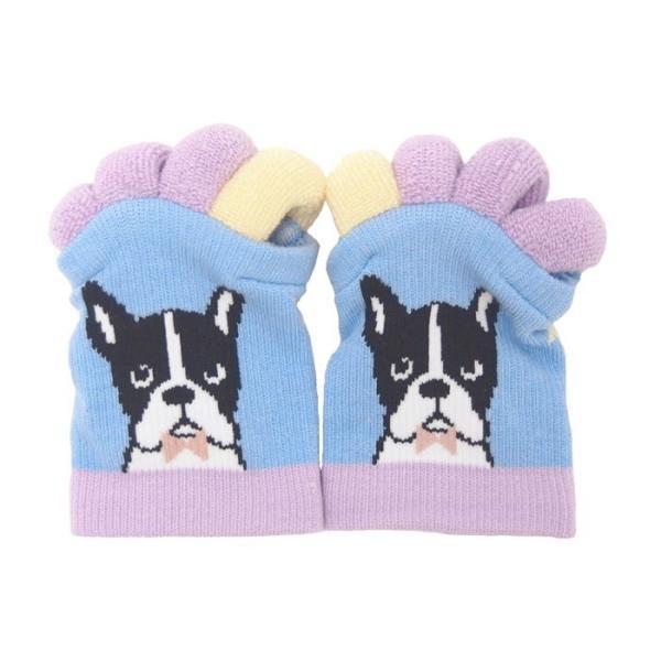 即出荷 足指ソックス 足指 広げる 5本指 靴下 ソックス ネイル ペディキュア リラックス フットケア ストレッチ かわいい ネコ イヌ|piglet|15