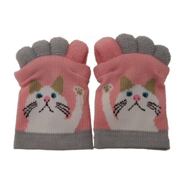 即出荷 足指ソックス 足指 広げる 5本指 靴下 ソックス ネイル ペディキュア リラックス フットケア ストレッチ かわいい ネコ イヌ|piglet|16