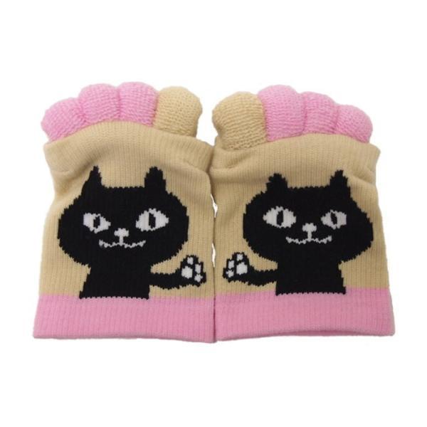 即出荷 足指ソックス 足指 広げる 5本指 靴下 ソックス ネイル ペディキュア リラックス フットケア ストレッチ かわいい ネコ イヌ|piglet|17