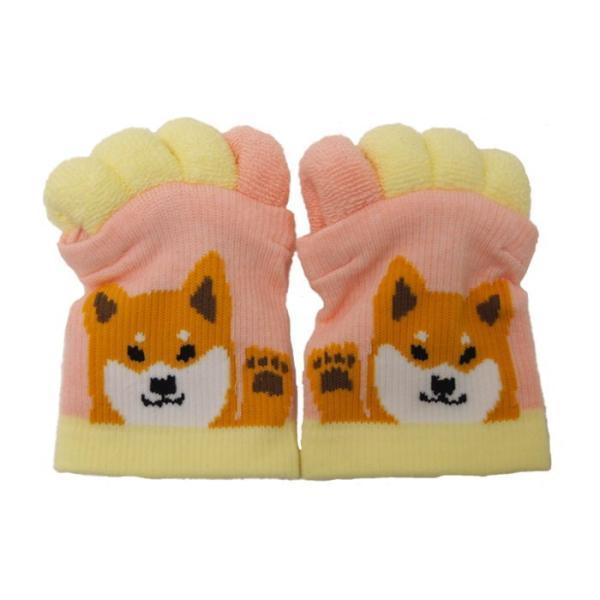 即出荷 足指ソックス 足指 広げる 5本指 靴下 ソックス ネイル ペディキュア リラックス フットケア ストレッチ かわいい ネコ イヌ|piglet|18