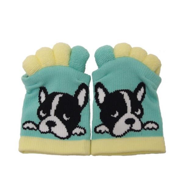 即出荷 足指ソックス 足指 広げる 5本指 靴下 ソックス ネイル ペディキュア リラックス フットケア ストレッチ かわいい ネコ イヌ|piglet|20