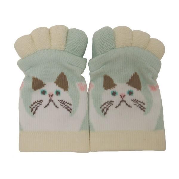即出荷 足指ソックス 足指 広げる 5本指 靴下 ソックス ネイル ペディキュア リラックス フットケア ストレッチ かわいい ネコ イヌ|piglet|21