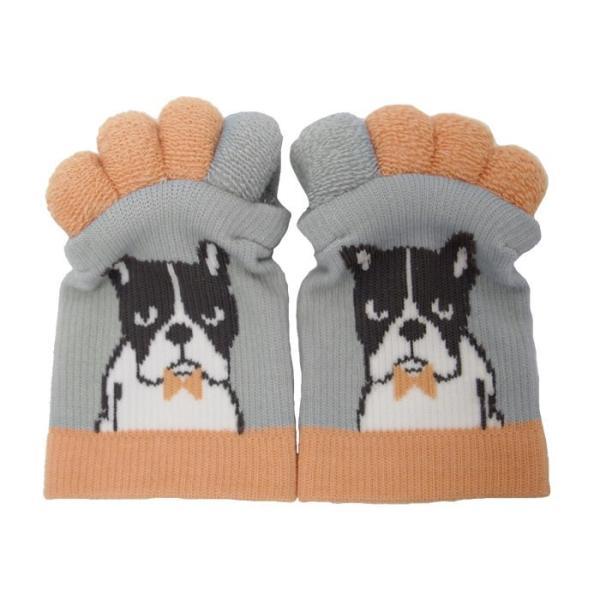 即出荷 足指ソックス 足指 広げる 5本指 靴下 ソックス ネイル ペディキュア リラックス フットケア ストレッチ かわいい ネコ イヌ|piglet|23