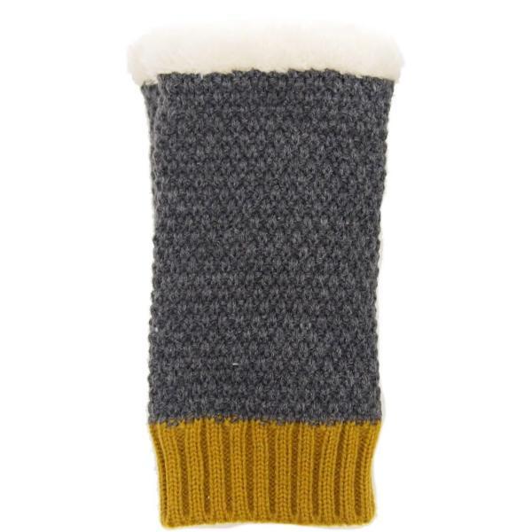 即出荷 アームウォーマー あったか ニット アームカバー ハンドウォーマー 手袋 指なし 防寒対策 スマートフォン|piglet|09