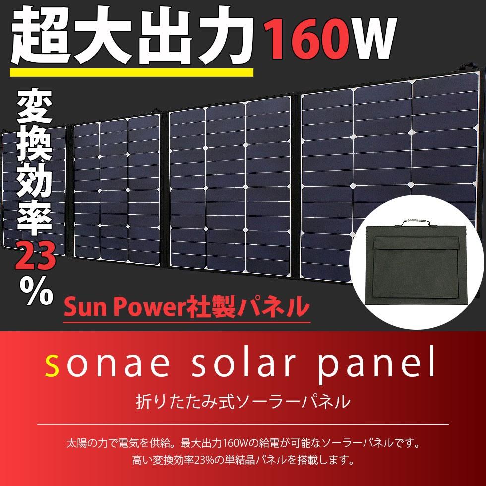 ソーラーパネル 160W