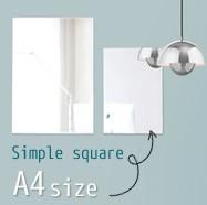 A4サイズのシンプルスクエアミラー