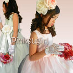 フラワーガール用ヴィンテージドレス