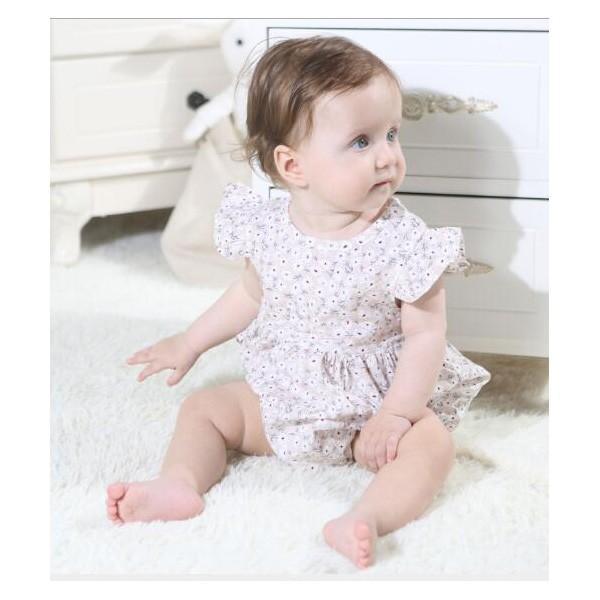 ベビー服 女 ロンパース ボタニカルフラワー 半袖  新作 薄手 夏用 子供服 赤ちゃん おしゃれ着 かわいい おしゃれ プチプラ 70 80 送料無料 ゆうパケット|pinkybabys|11