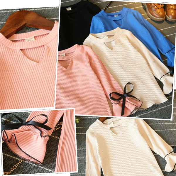 子供服,長袖ロングTシャツ,ギャザー袖リボントップス,かわいいワンピース,シンプルに着こなせるデザイン,110サイズから