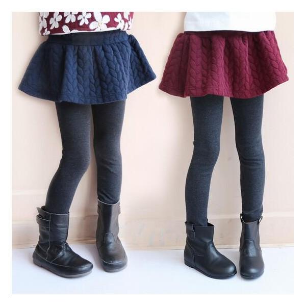 子供服 女 スカート付きスパッツ スカッツ タイツ 韓国子供服 秋冬 スカート ボトムス ズボン スキニー